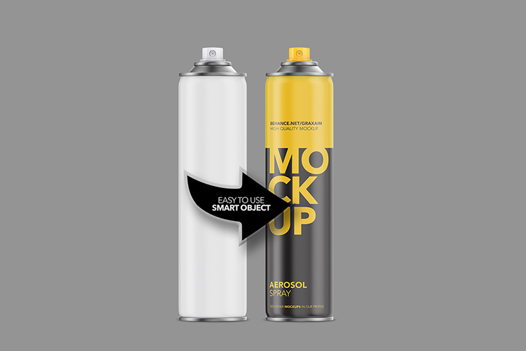 Aerosol Spray Matte Front Mockup Tall example image 3