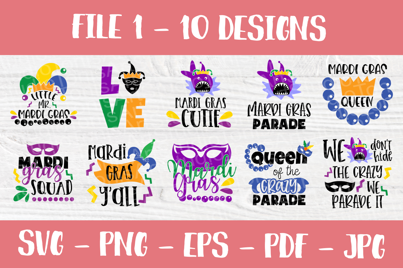 Mardi Gras SVG | SVG Bundle | SVG Cut Files | T shirt Desig example image 2