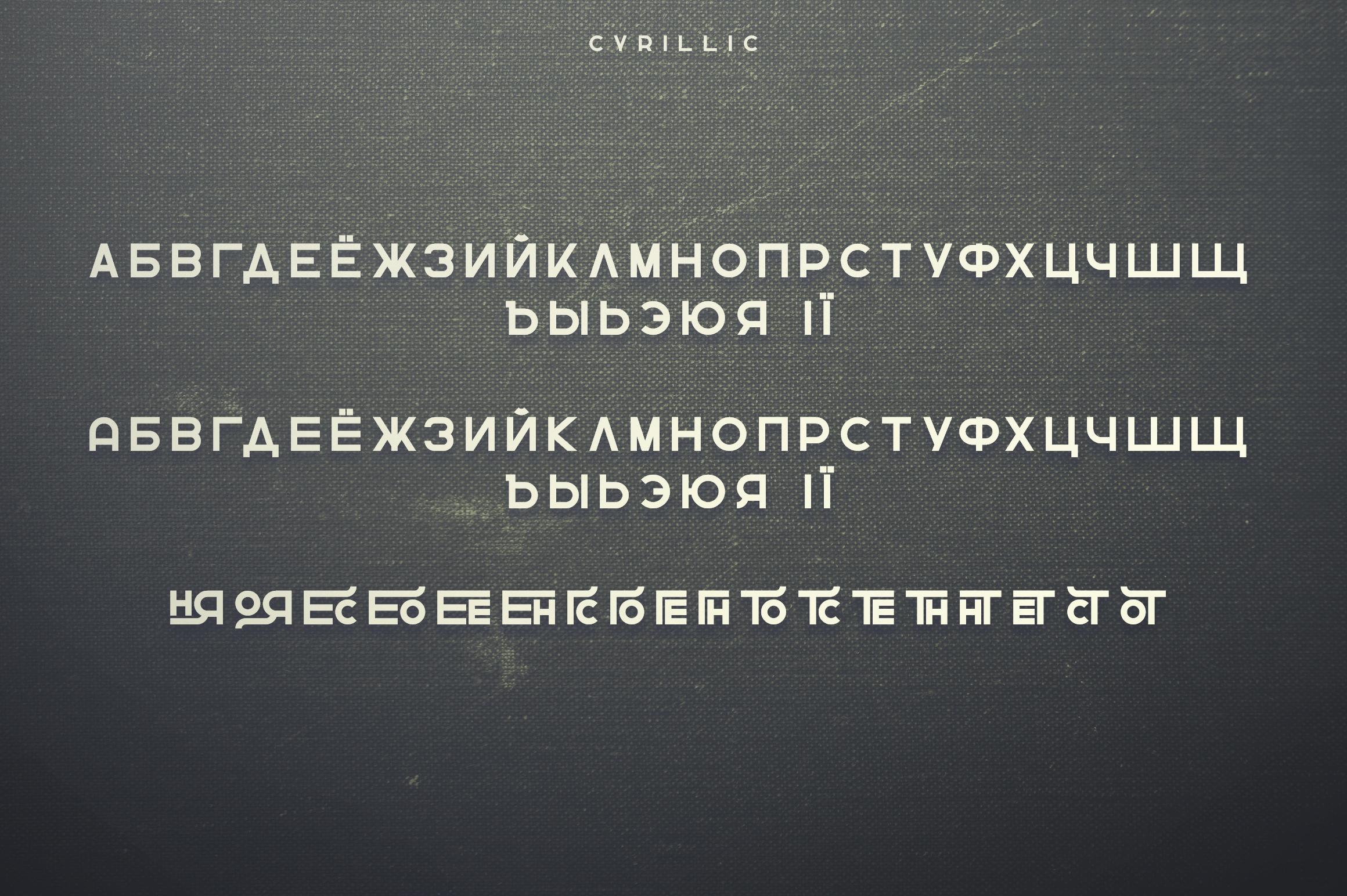 Greenth Display   Latin & Cyrillic example image 11