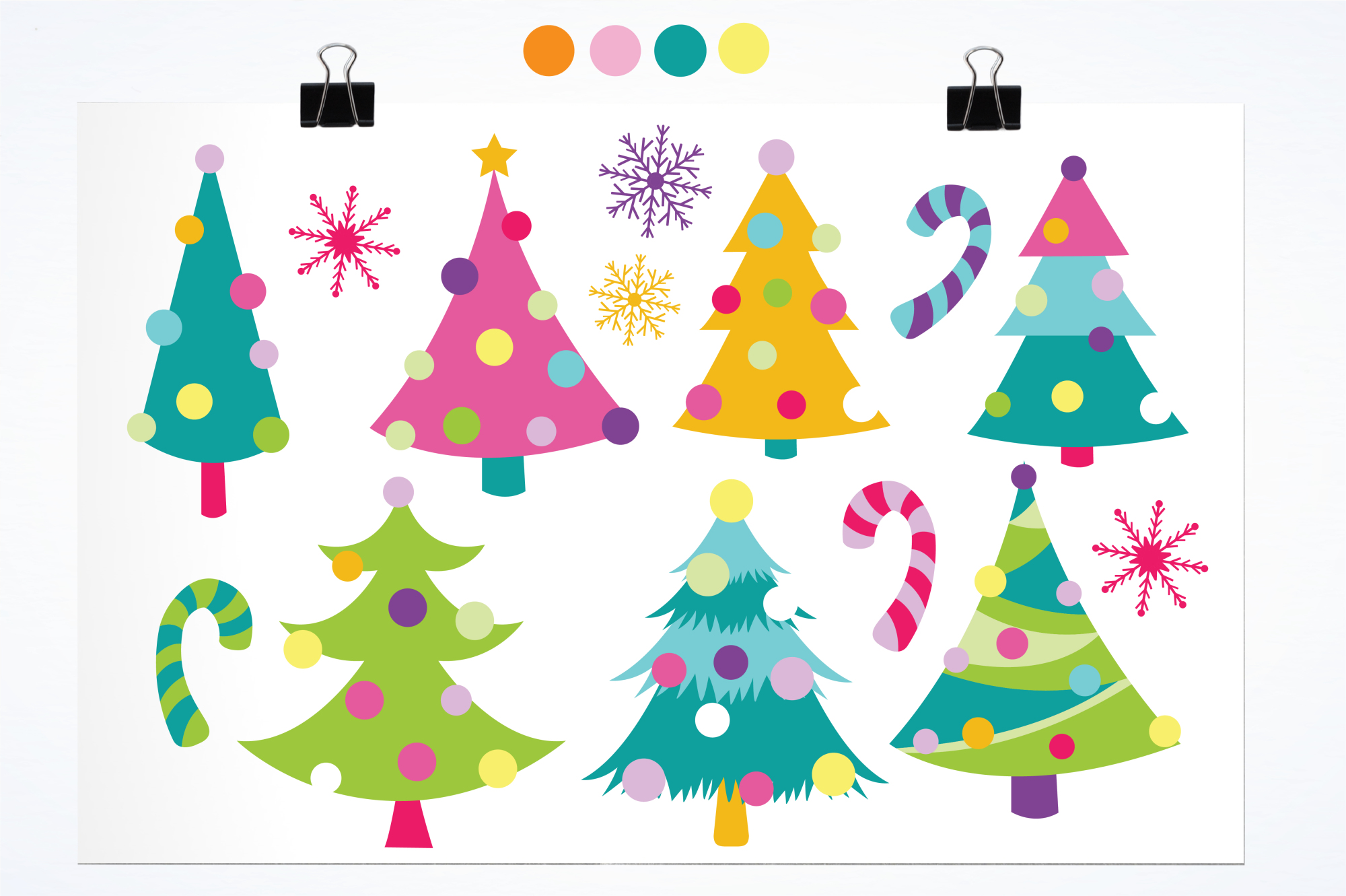 Christmas Trees graphics and illustrations example image 2