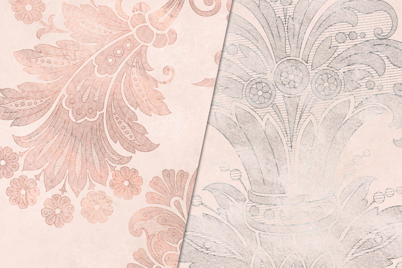 Blush Floral Velvet Digital Paper example image 4