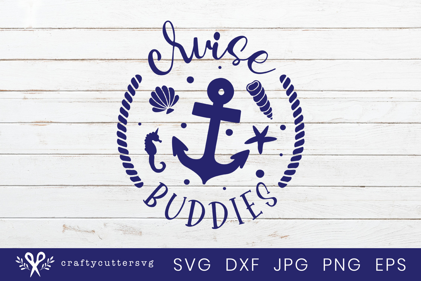 Cruise buddies Svg Cut File Cocktail Anchor Shell Clipart example image 2