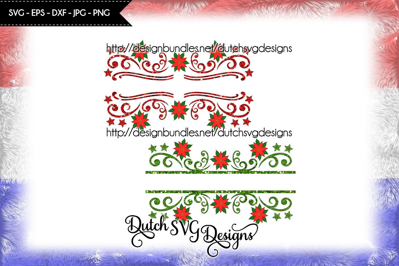 2 Split name cutting files, christmas svg, monogram svg example image 4
