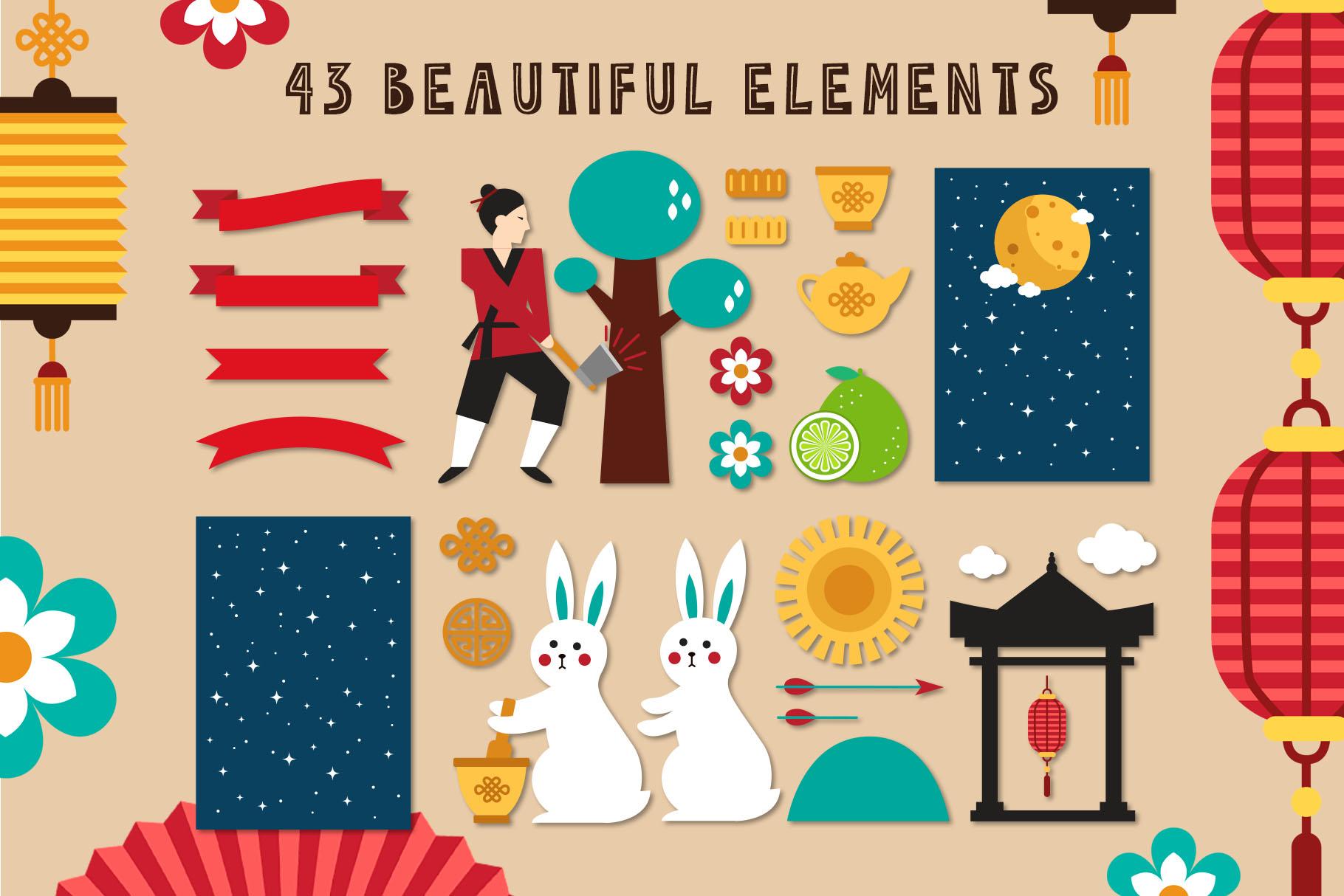 Mid Autumn Festival - China folk kit example image 3