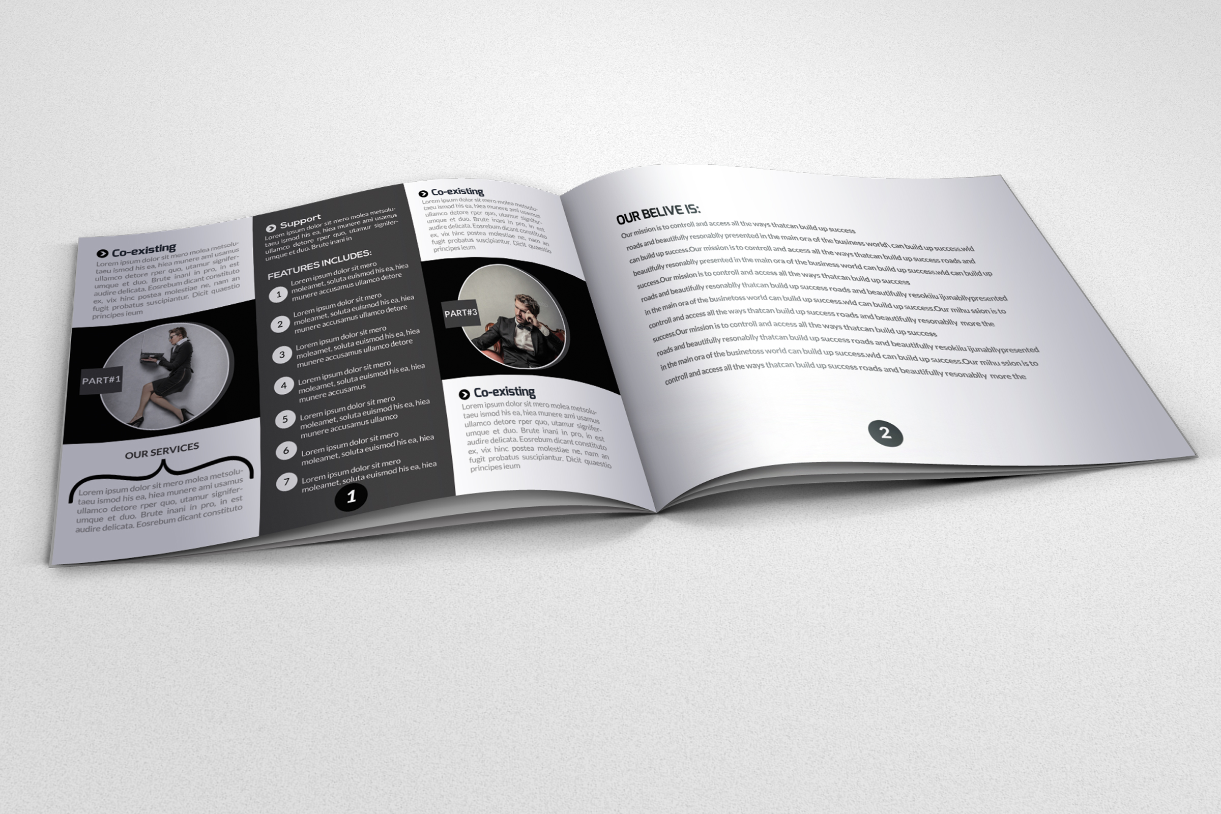 Business Square Bifold Brochure example image 2
