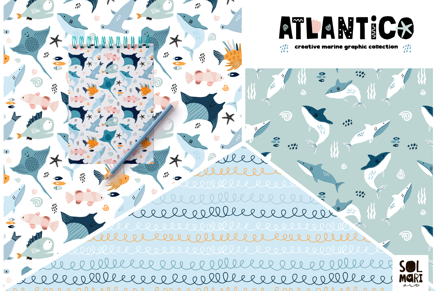 ATLANTICO. Marine graphic collection example image 5