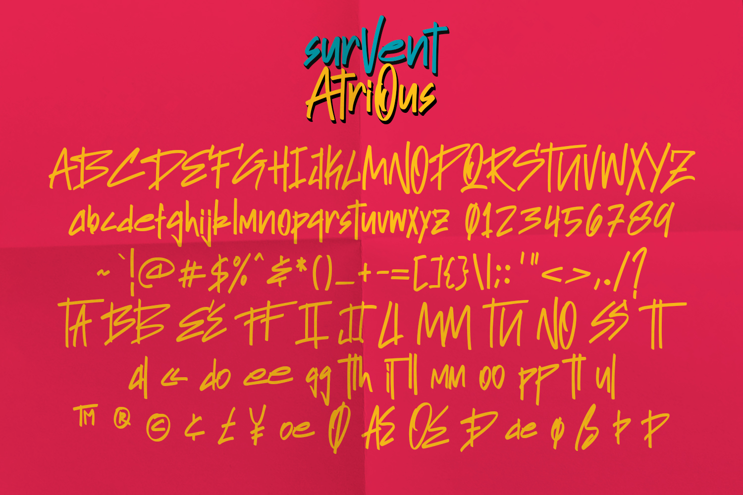 Survent Atrious Marker Font example image 8