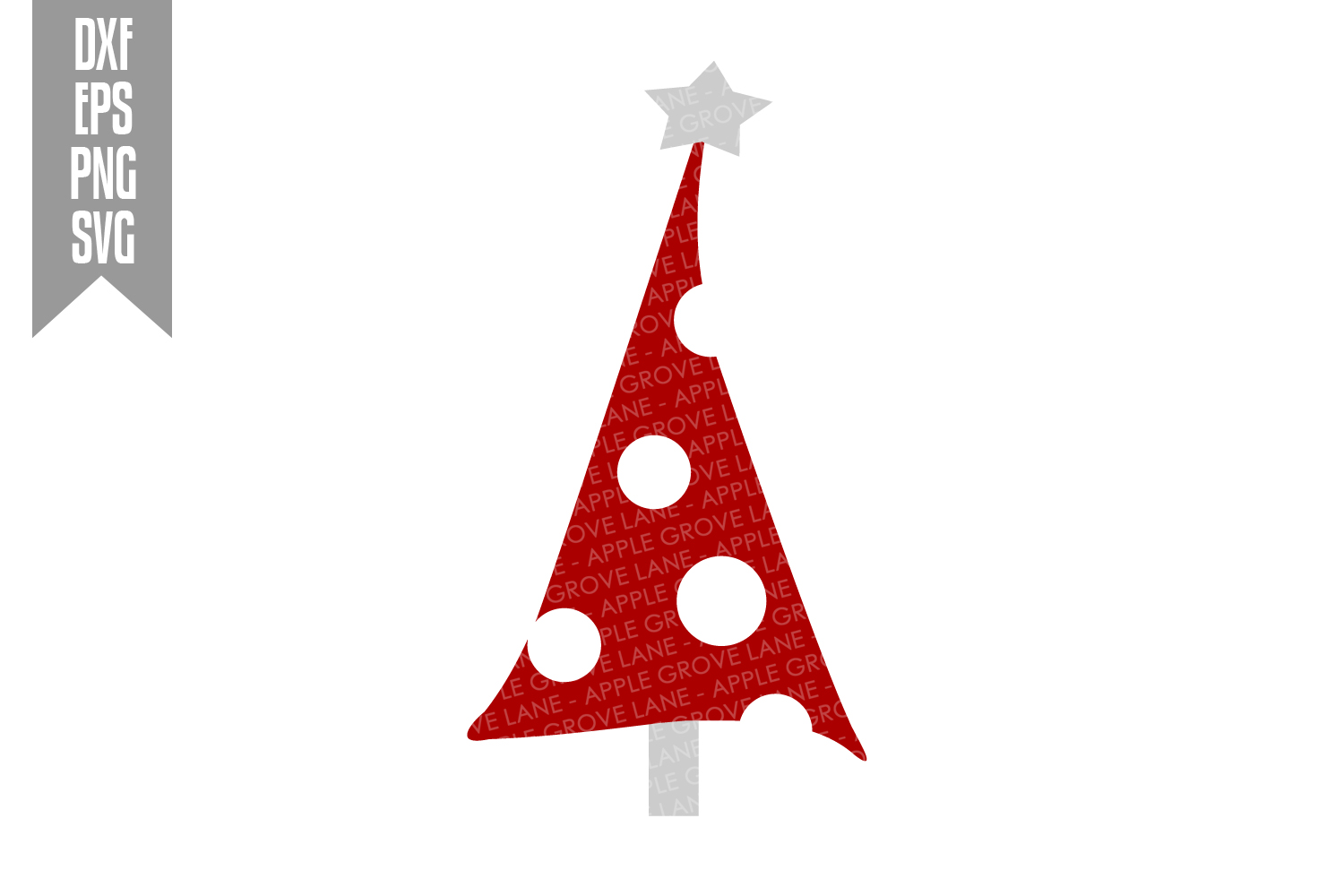 Christmas Tree Svg Bundle - 6 designs included - Svg File example image 6