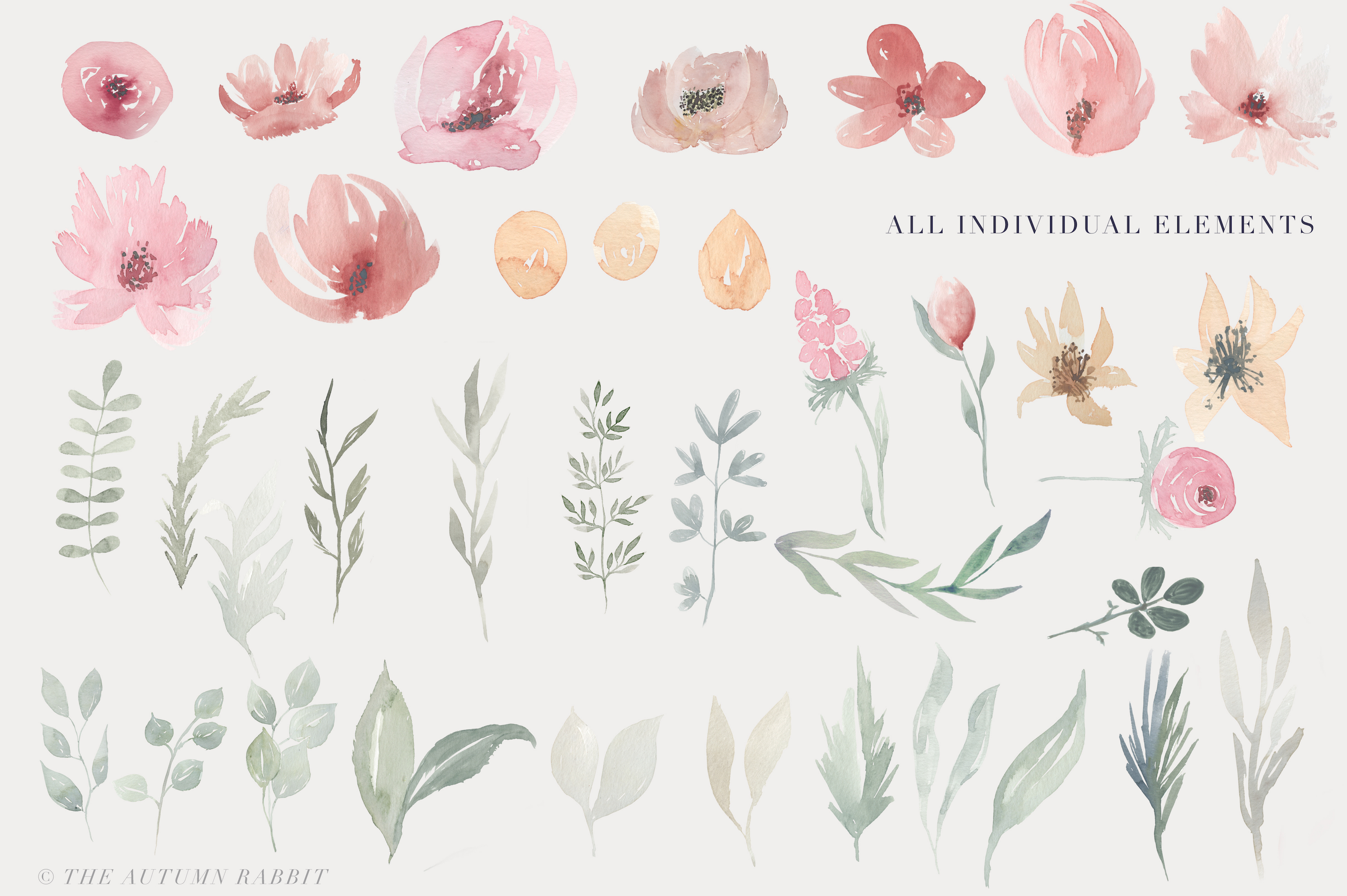 Watercolor Floral Clipart - Blooming Spring example image 3