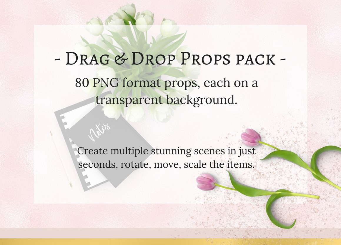 80 Drag & Drop props pack example image 1