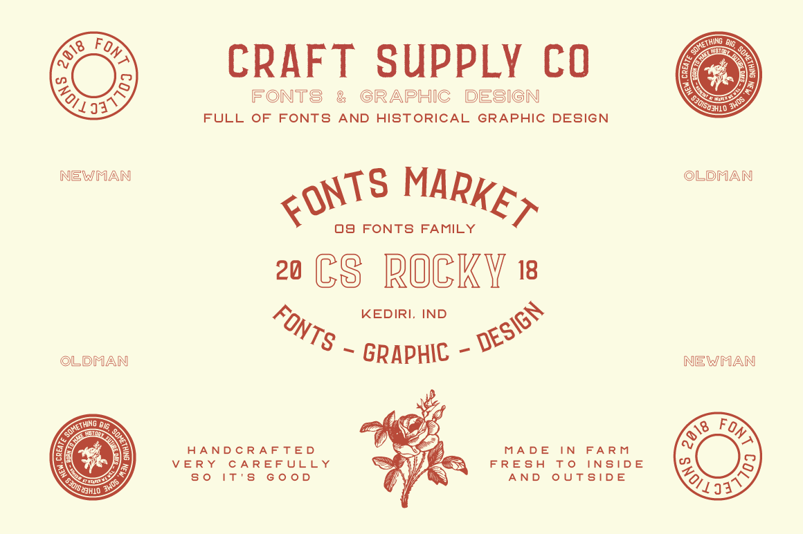 CS Rocky Font + Extras example image 1