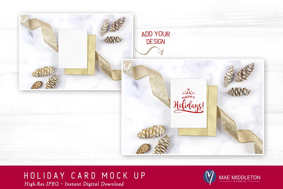 Holiday / Christmas Card / Stationery Mock Up example image 2