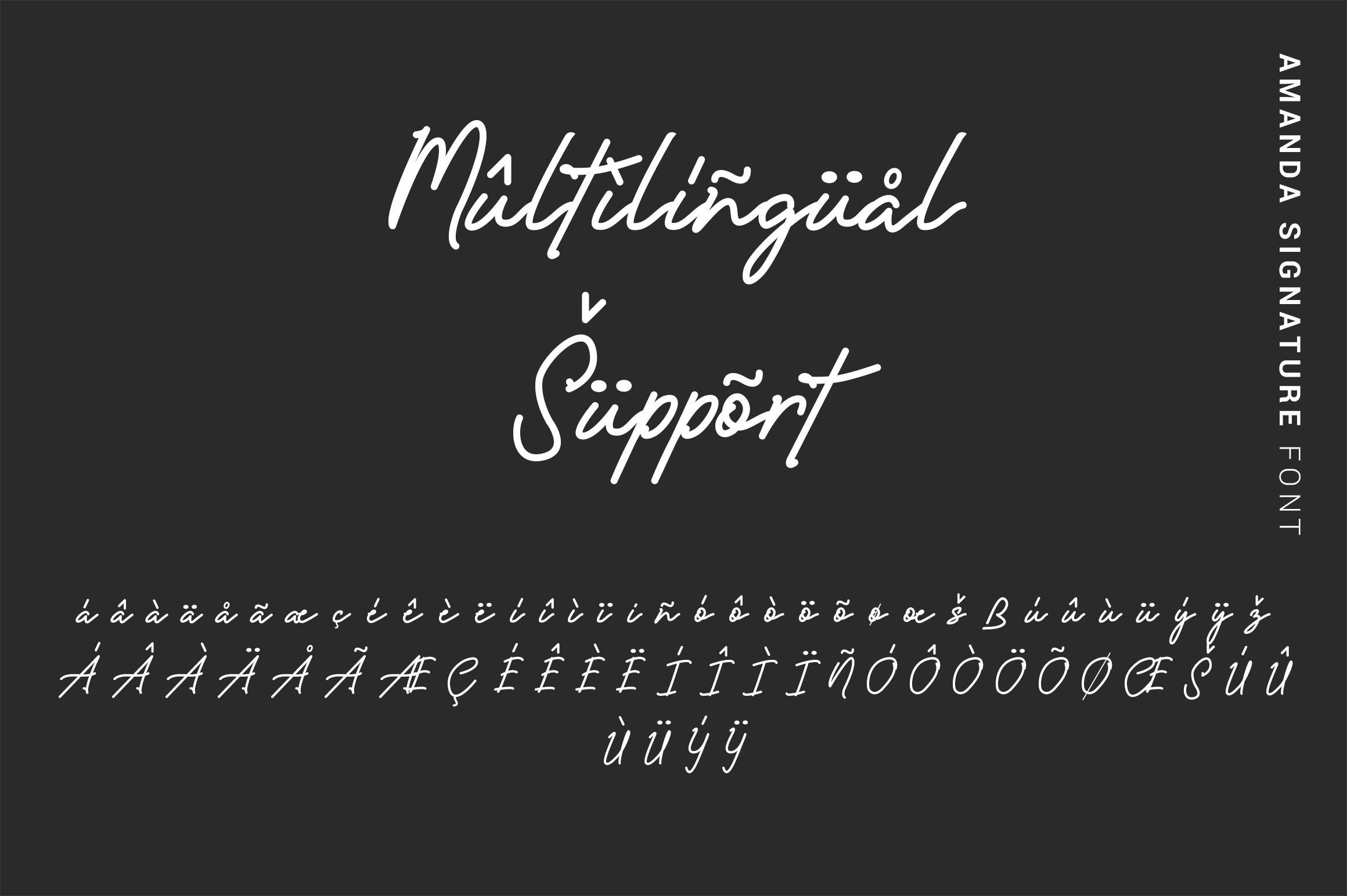 Amanda - Signature Monoline Font example image 14