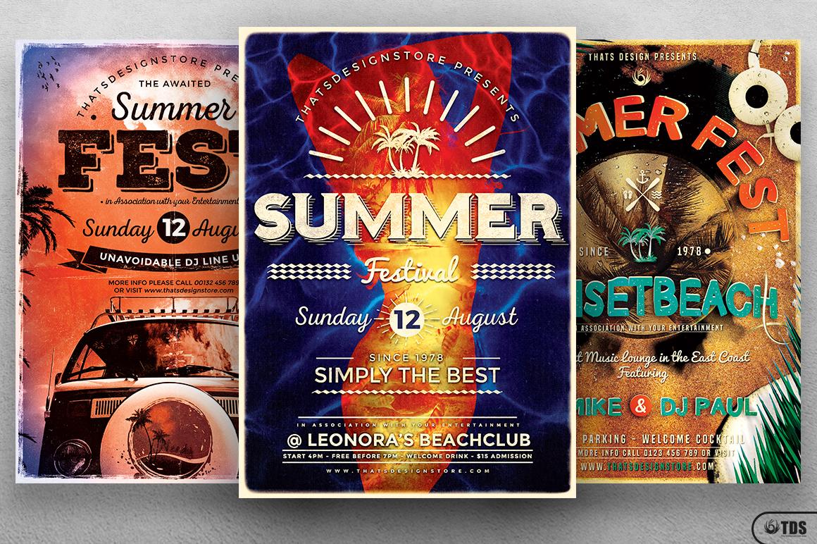 Summer Fest Flyer Bundle example image 3