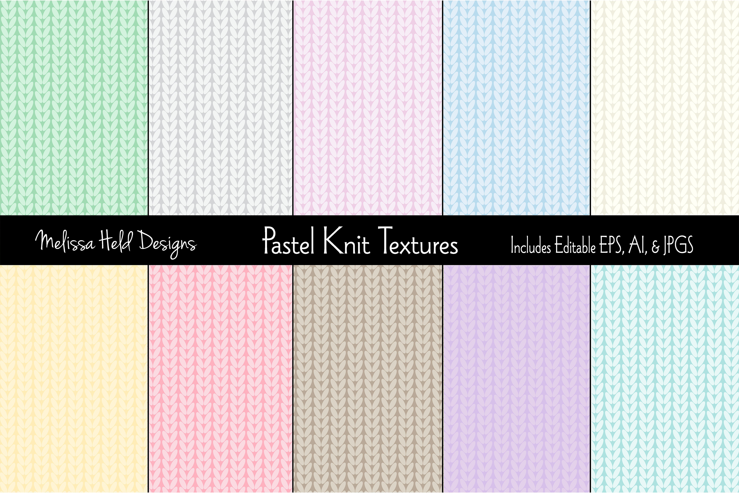 Pastel Knit Textures example image 1