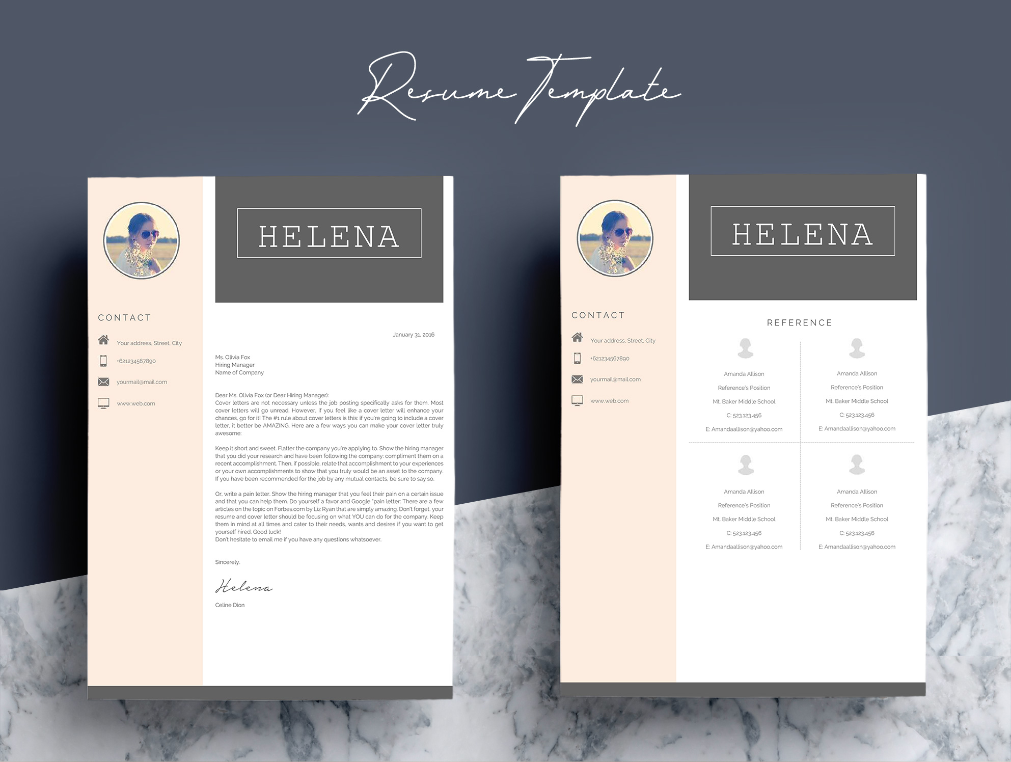 Professional Resume Template CV 4 Pages example image 7