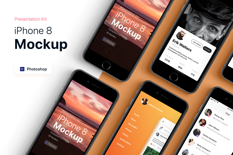 Presentation Kit - iPhone showcase Mockup_v6 example image 2
