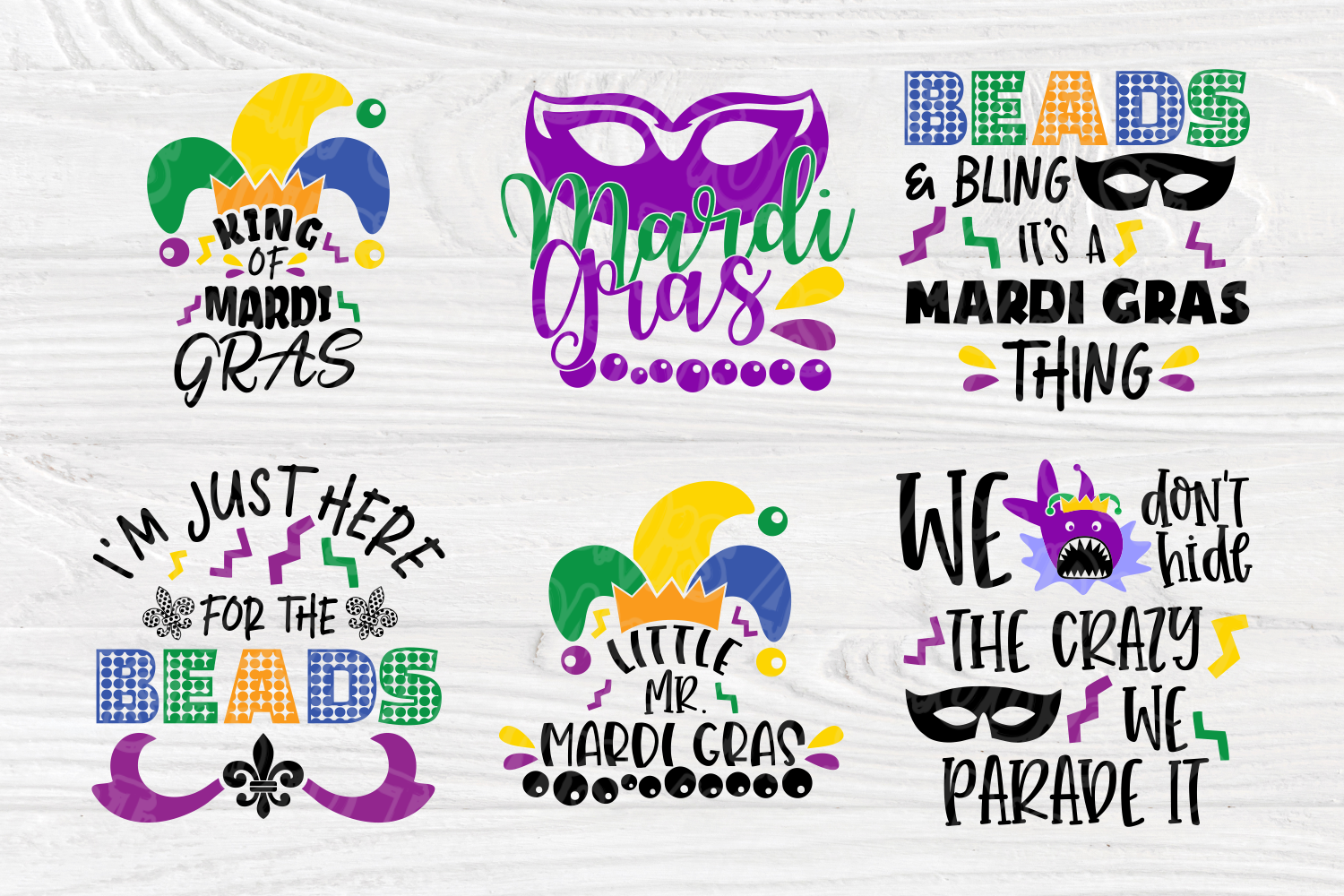 Mardi Gras Quotes | Cut Files for Crafters | Mardi Gras SVG example image 3