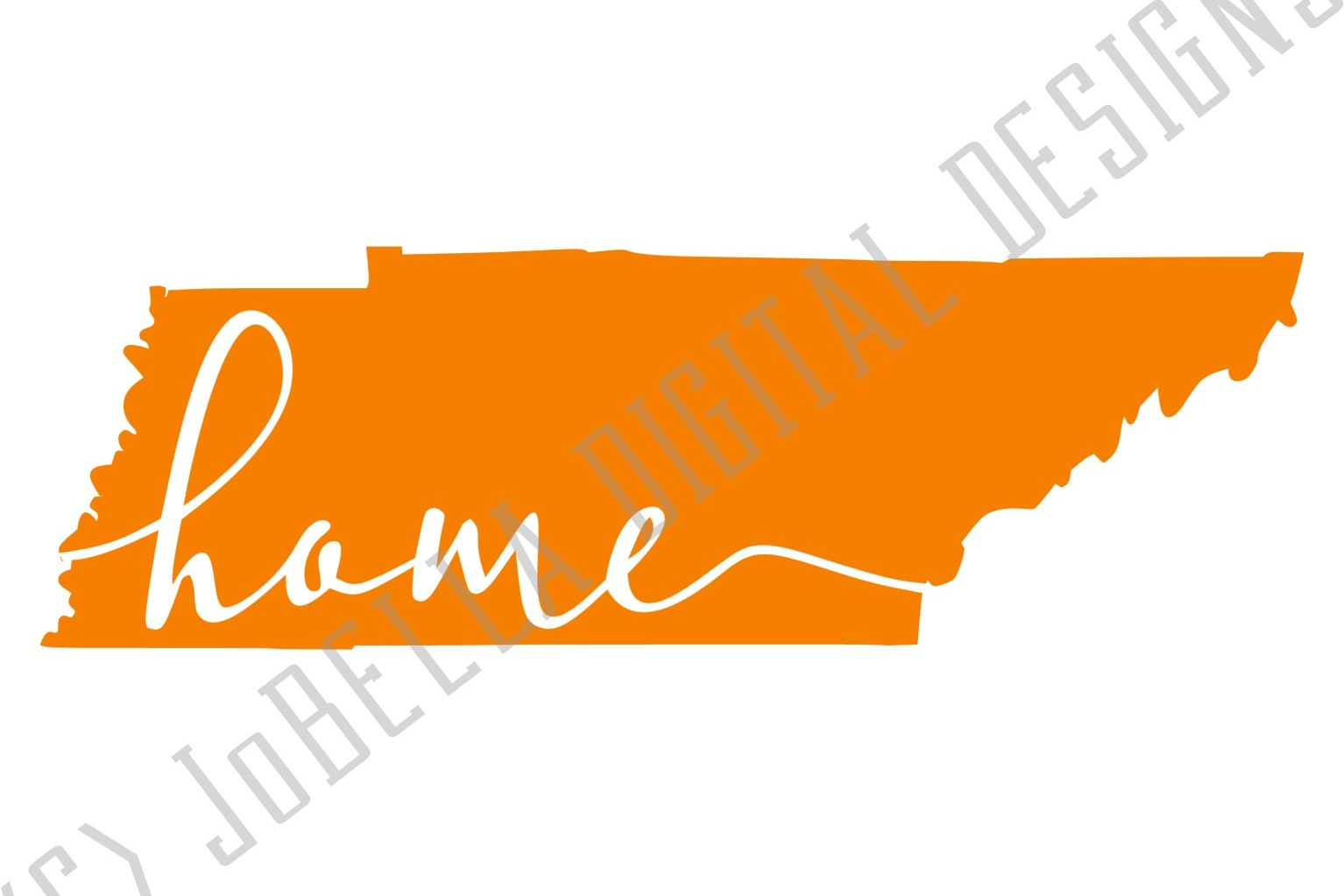 Orange Tennessee with Home SVG and Printable example image 4