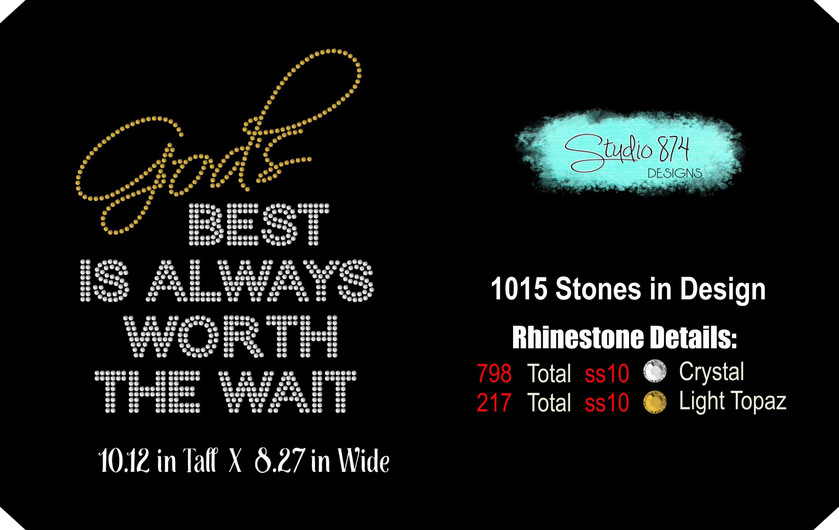 Faith Religious Rhinestone SVG Template - Gods Best example image 2