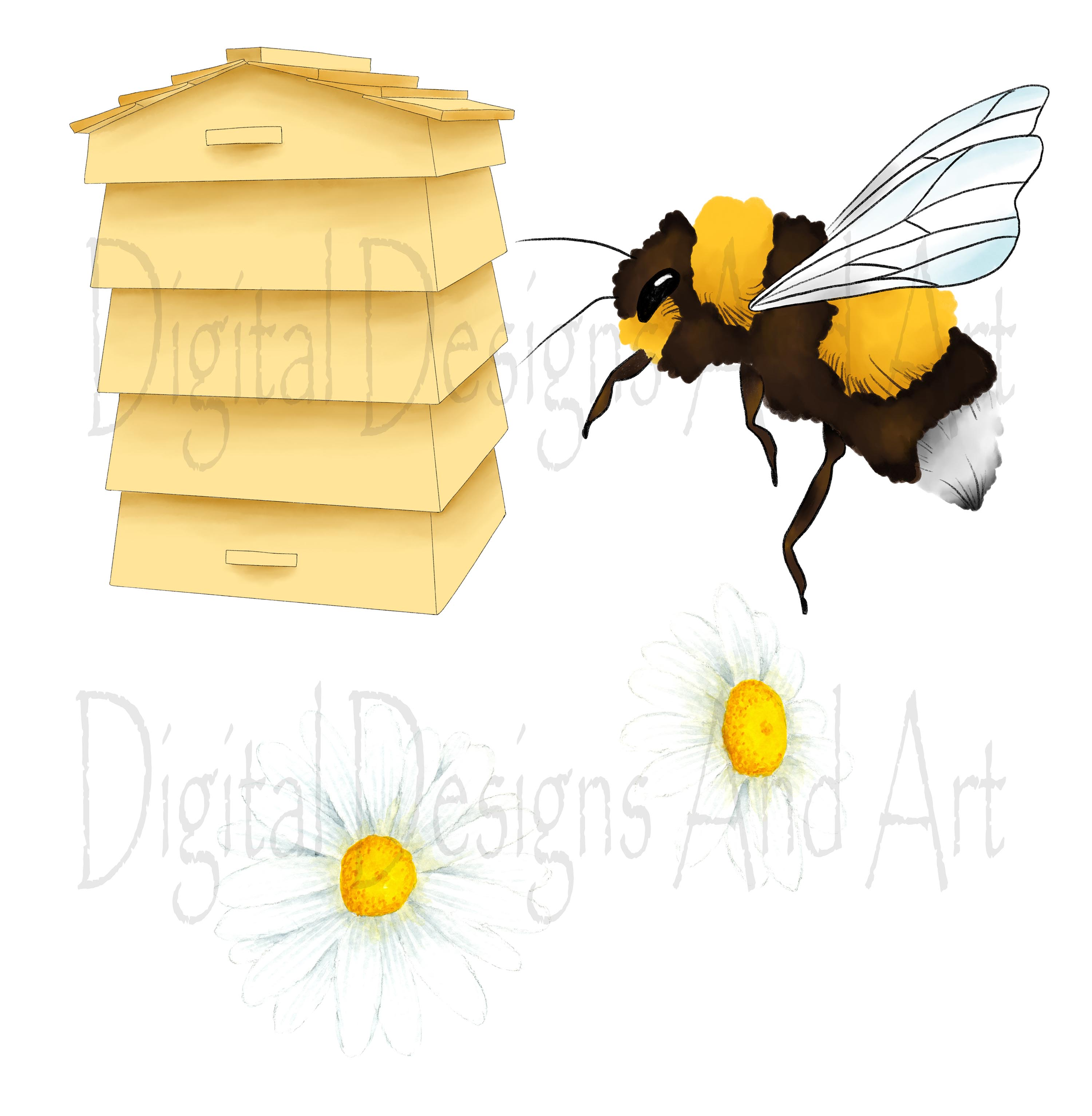 Honey bee clipart example image 8