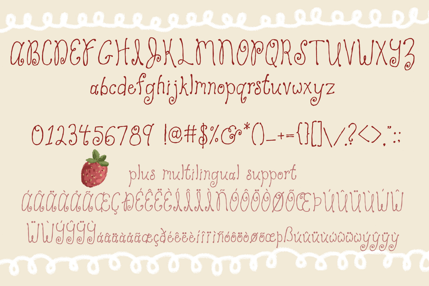 Strawberry Cake Whimsical Font example image 2