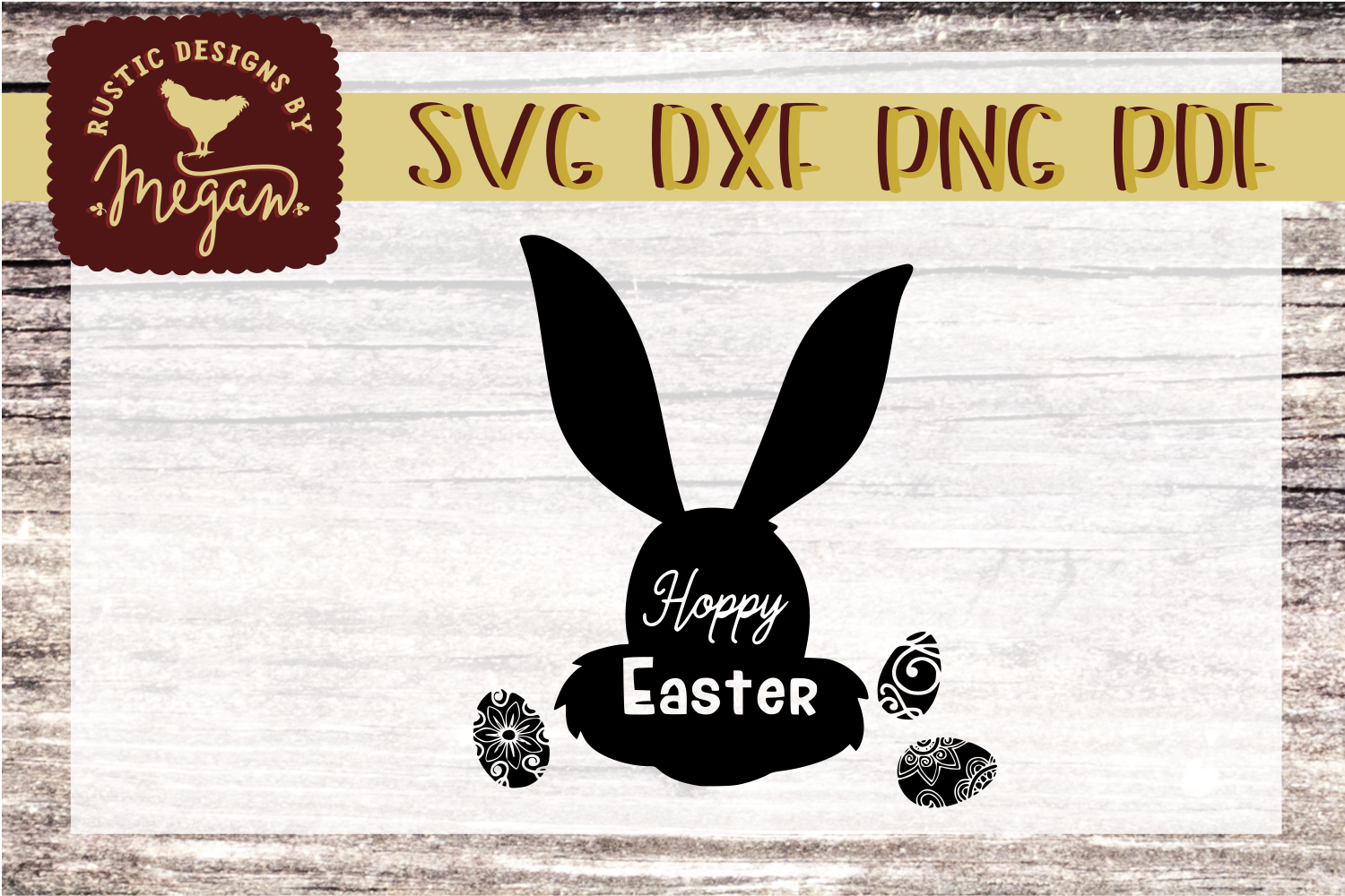 Hoppy Easter Bunny SVG - Easter cut file example image 1