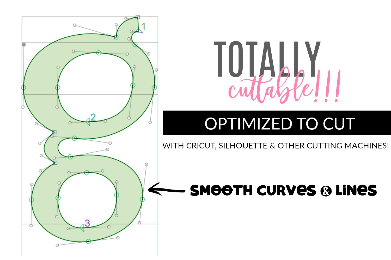 Handwritten Font Bundle - 4 Cut-friendly Fonts example image 8