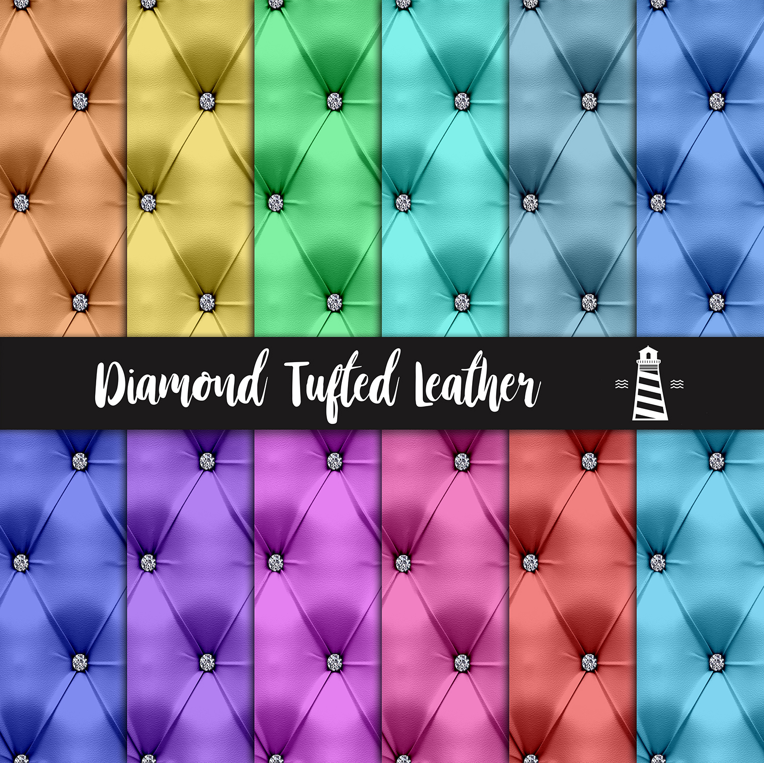 Diamond Tufted Leather Textures example image 2