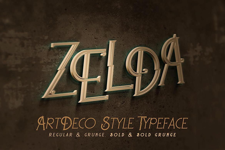 Zelda - ArtDeco Font example image 1