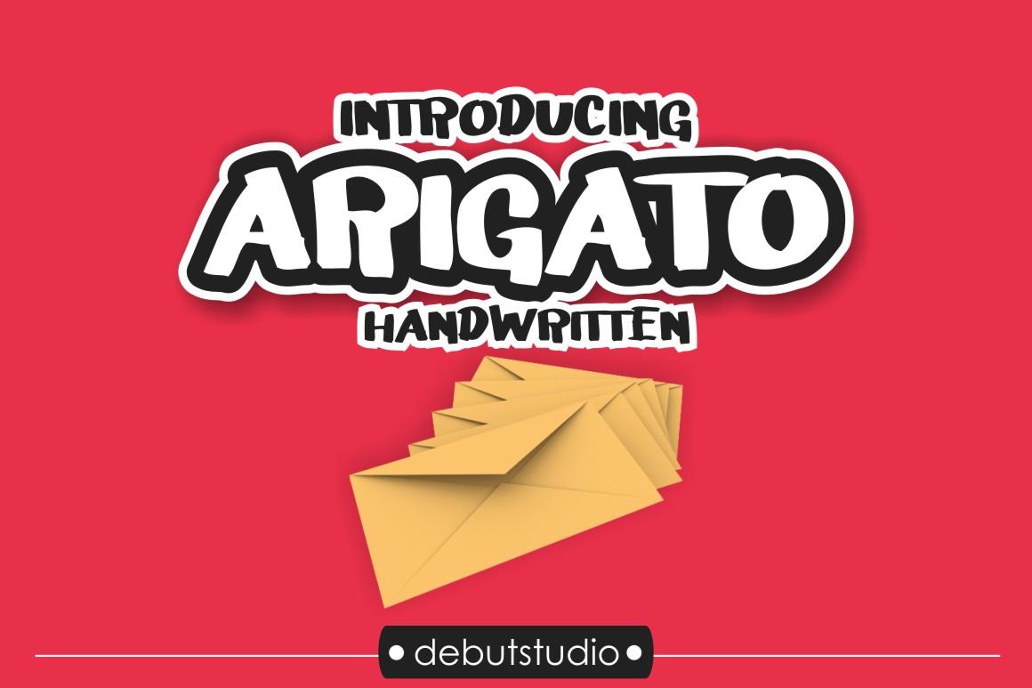 Arigato Handwritten Font - Cover