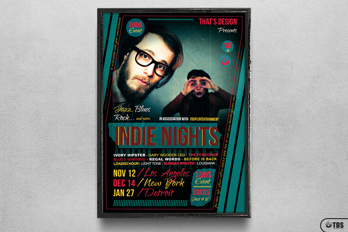 Indie Nights Flyer Template example image 6