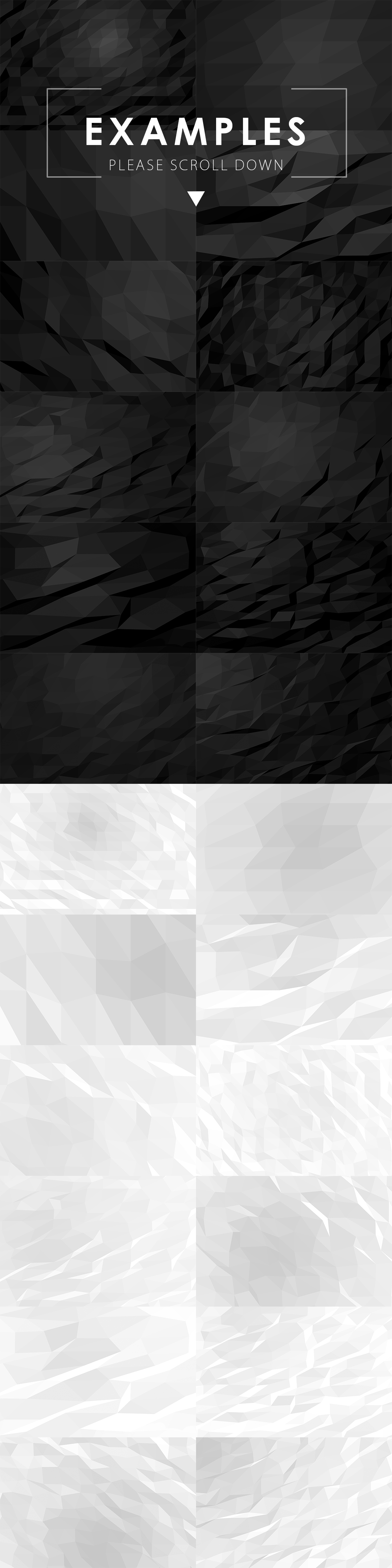 Black & White Polygon Backgrounds example image 2