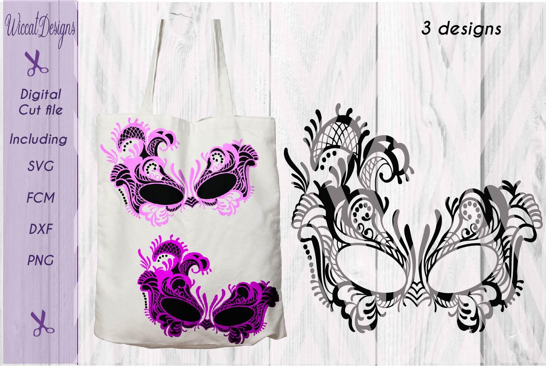 Lace mask, Masquerade Mask svg, Tattered Lace Mask svg, Masked ball svg, fcm files, girls svg, example image 3