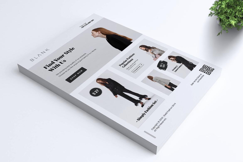 BALNK Minimal Fashion Flyer example image 2