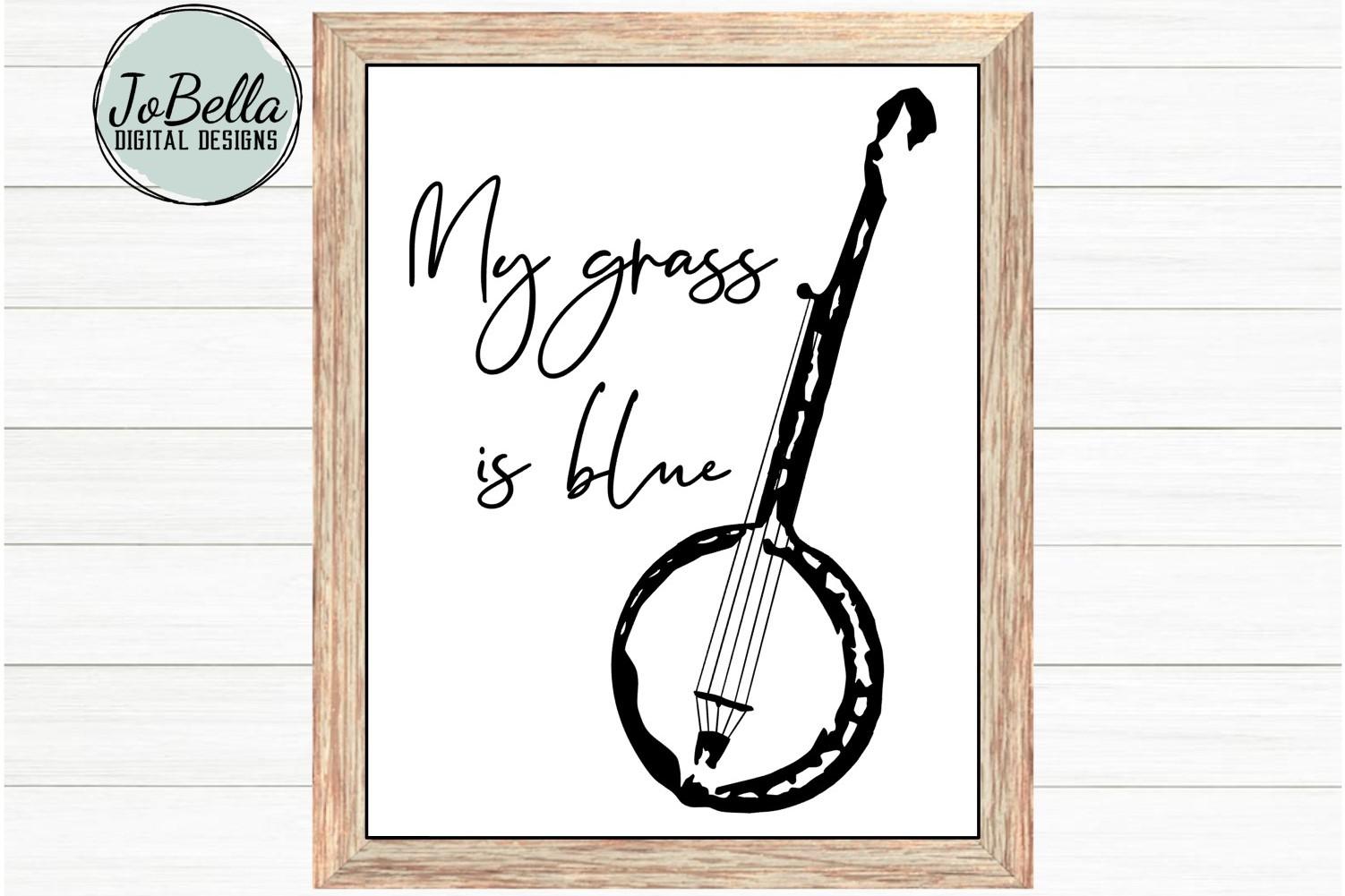 Bluegrass Grunge Banjo SVG and Printable Hand Drawn Design example image 2