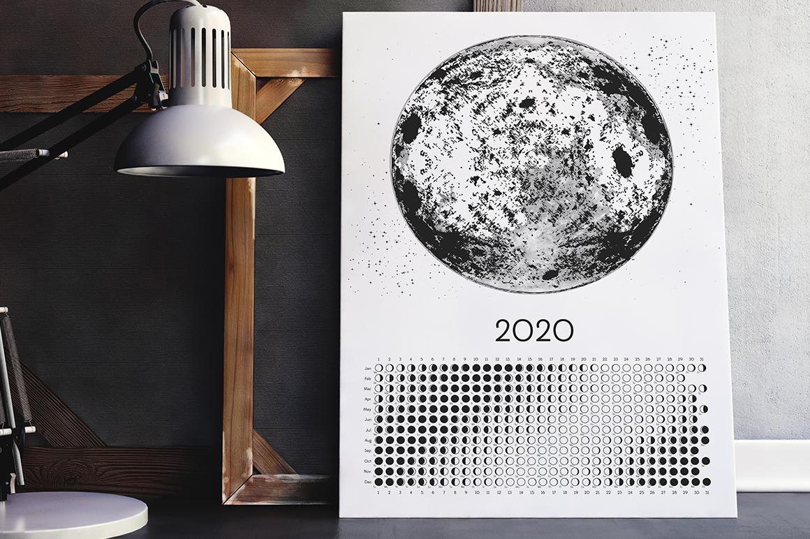 Moon Calendar 2020 Black & White example image 2