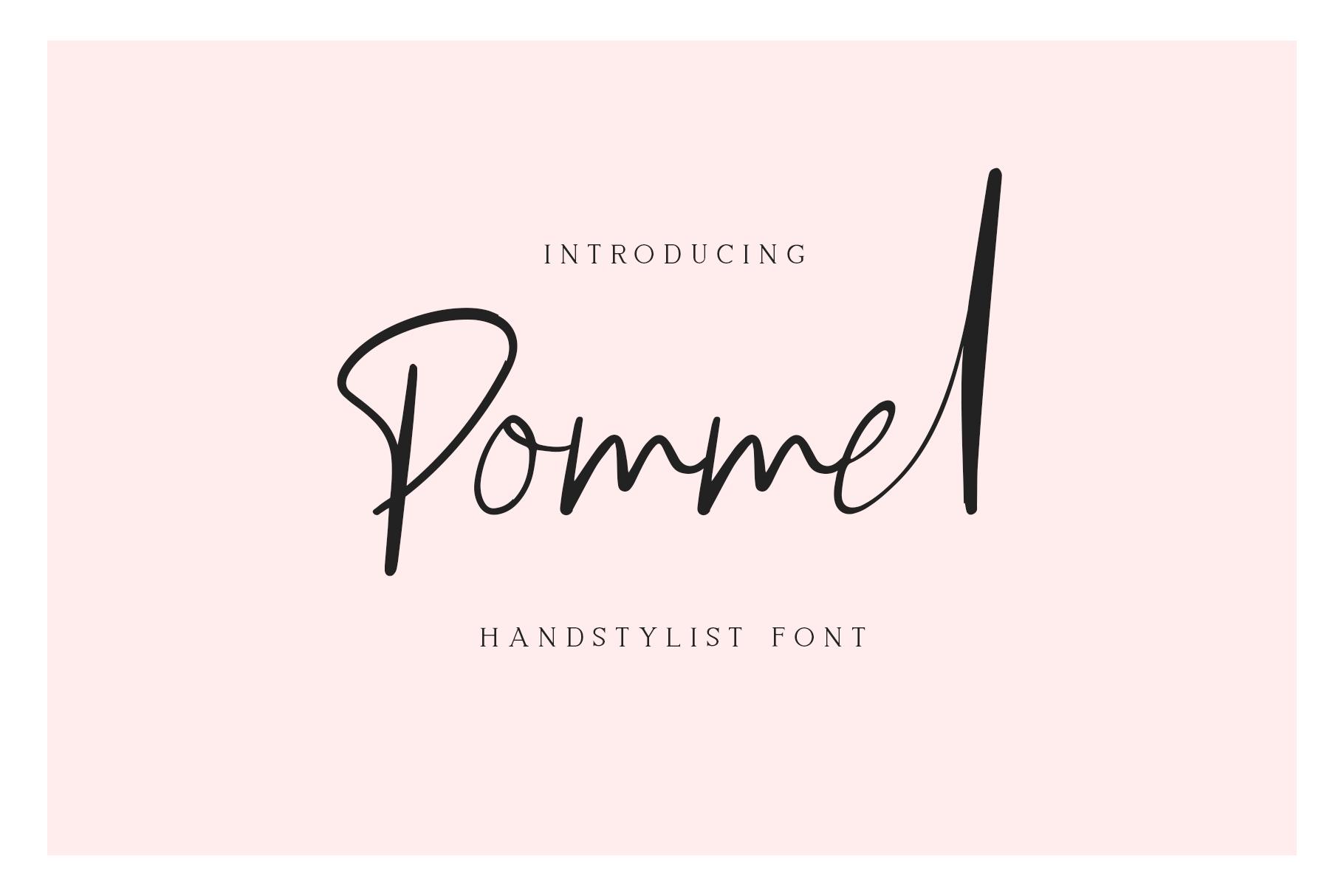 Pommel - Handstylish Font example image 3