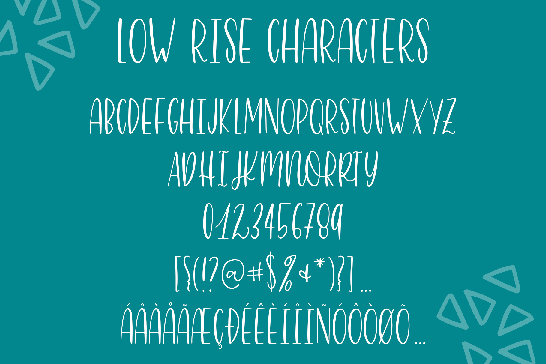Low Rise, Skinny Hand Lettered All Caps Sans Serif Font example image 9