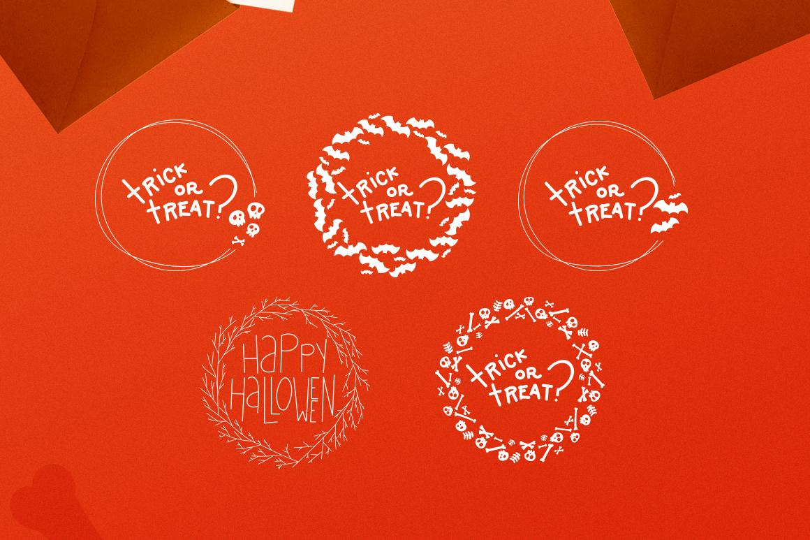 Halloween Wreaths Vector Pack example image 4