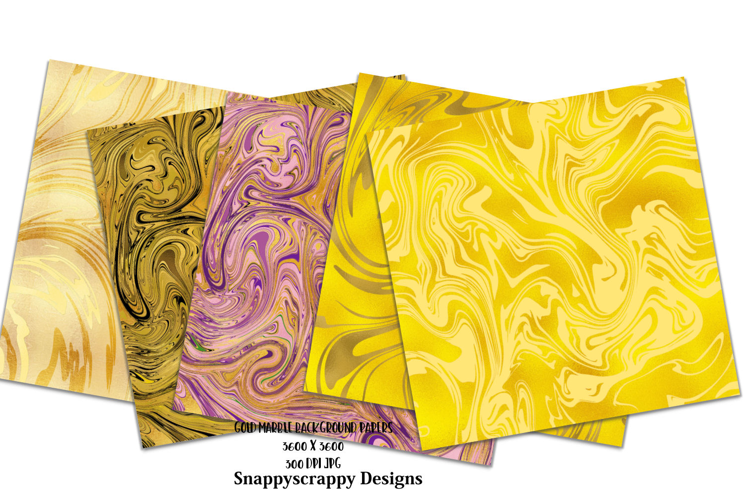 Liquid Gold Marble Background Papers example image 2