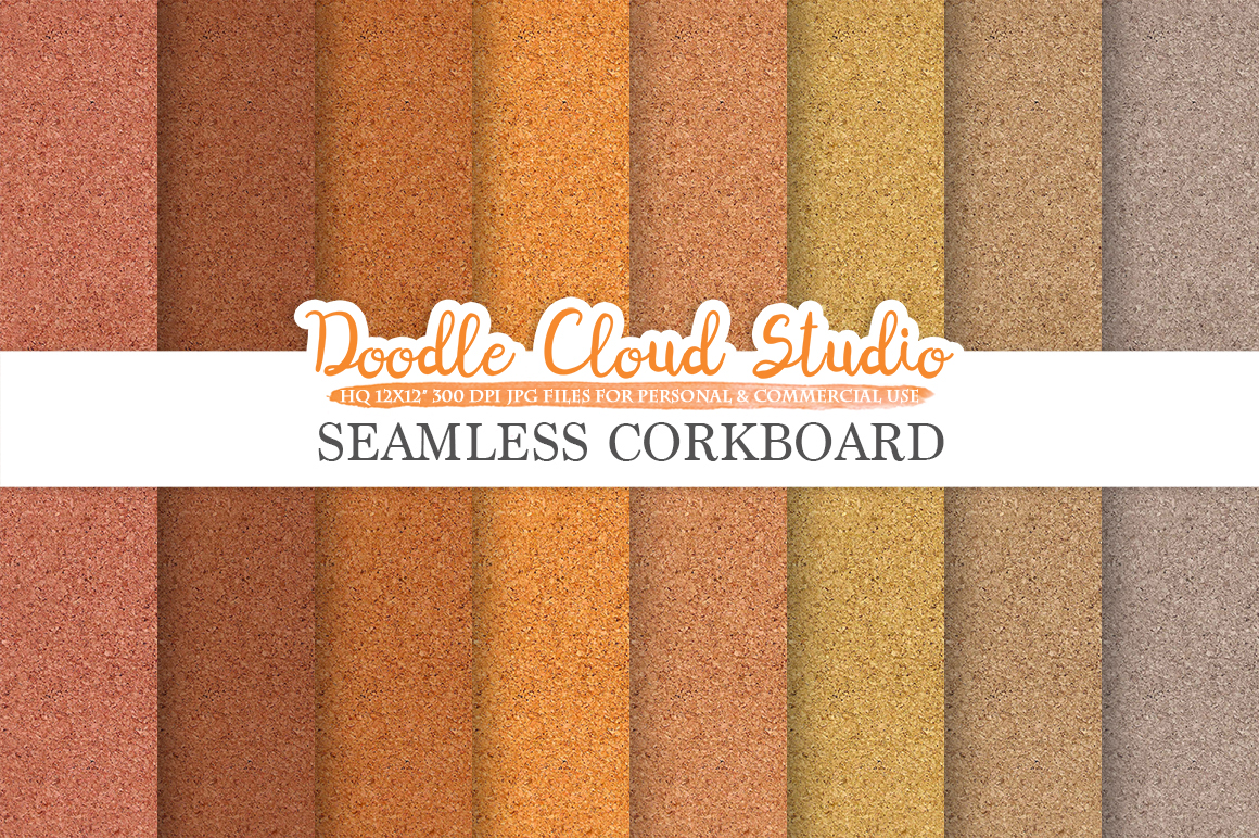 Seamless Corkboard digital paper, Cork Board Backgrounds, Printable Corkboard Paper, Real Cork textures, Instant Download, Commercial Use example image 1