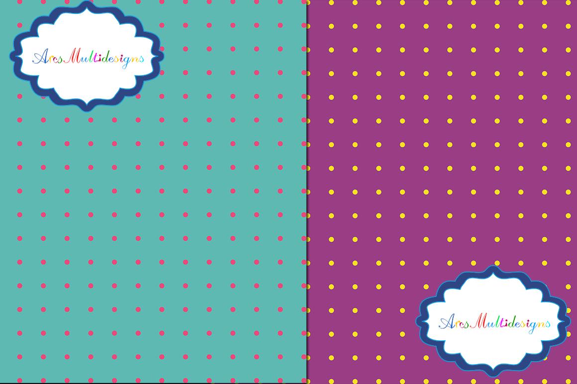 PolkaDots digital pattern / PolkaDots paper / digital papers / PolkaDots digital paper / polkadots scrapbook paper/ set 12 x 12 example image 3