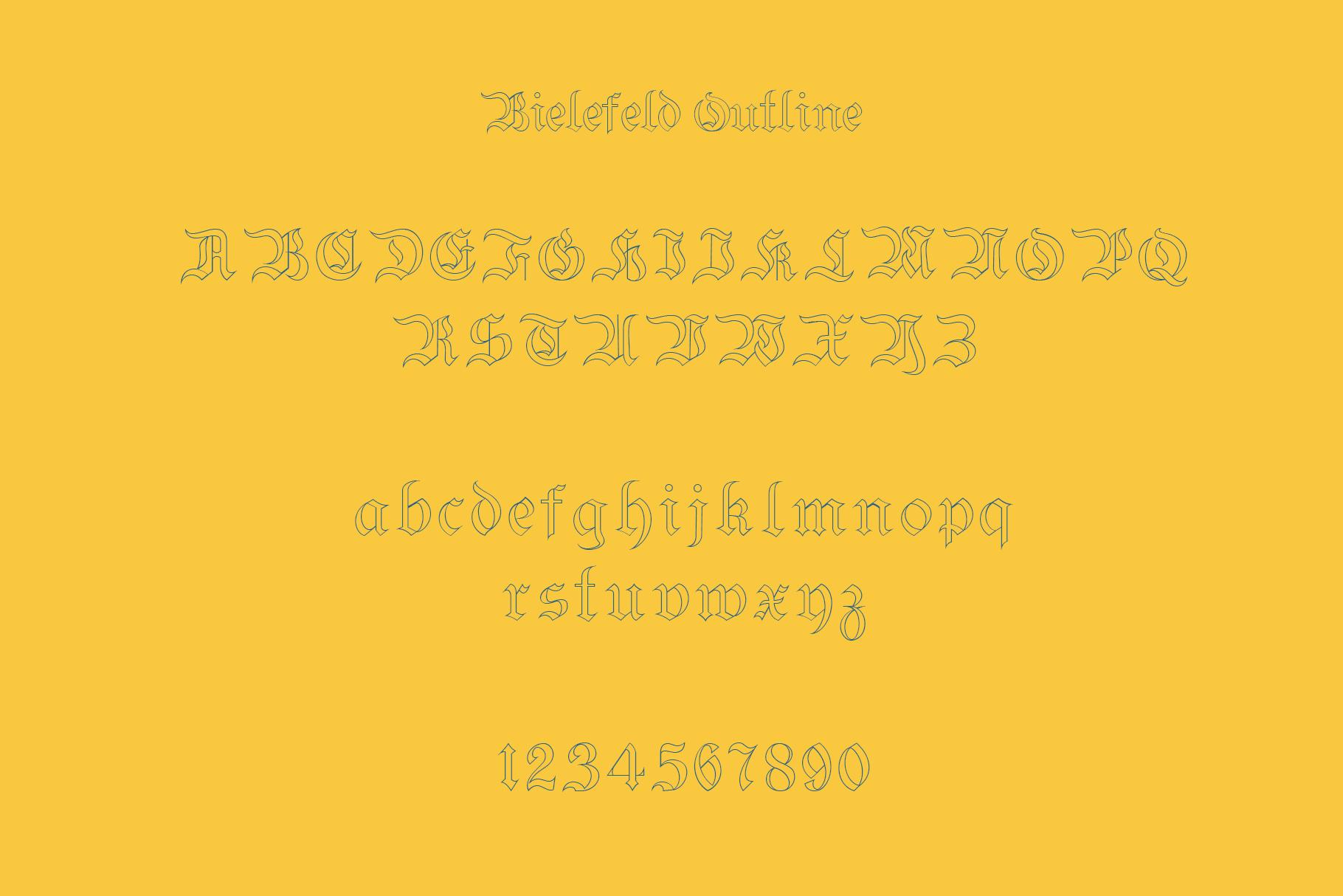 Bielefeld Typeface font example image 10