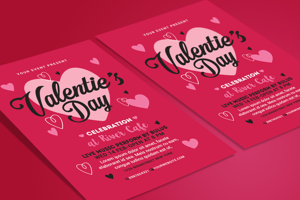 Valentines Day Flyer example image 2