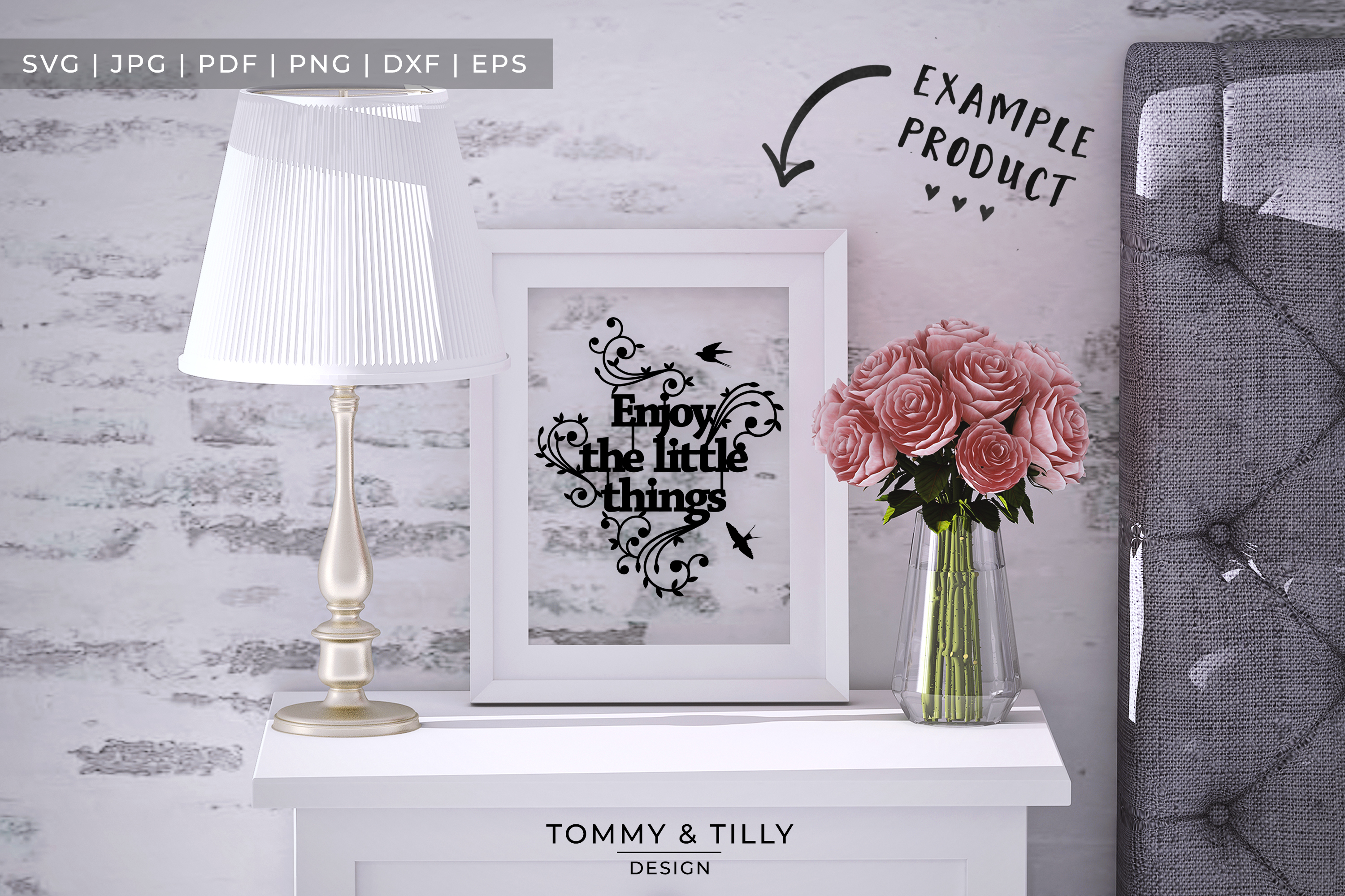 Enjoy the little things - Papercut SVG EPS DXF PNG PDF example image 3