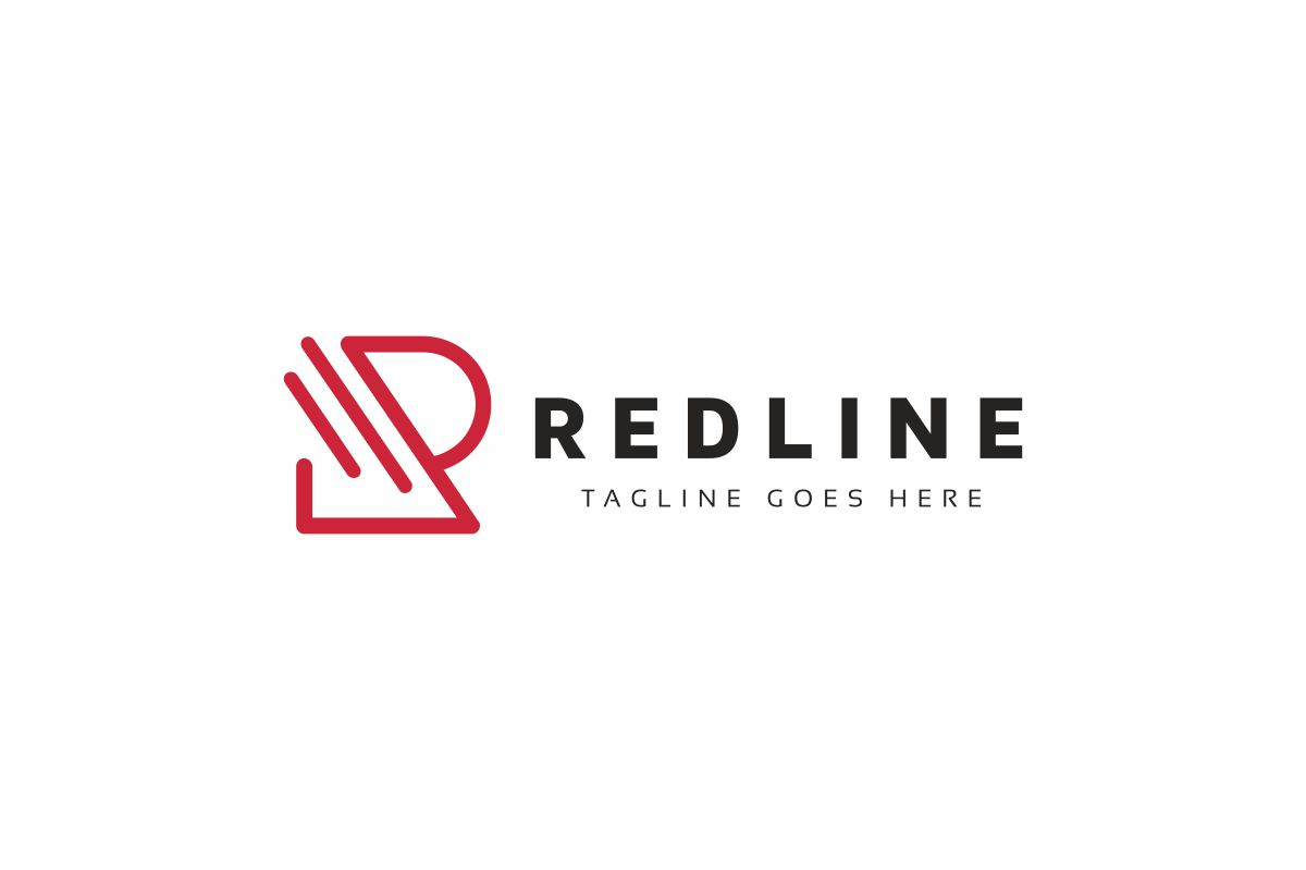 Red Line R Letter Logo example image 2