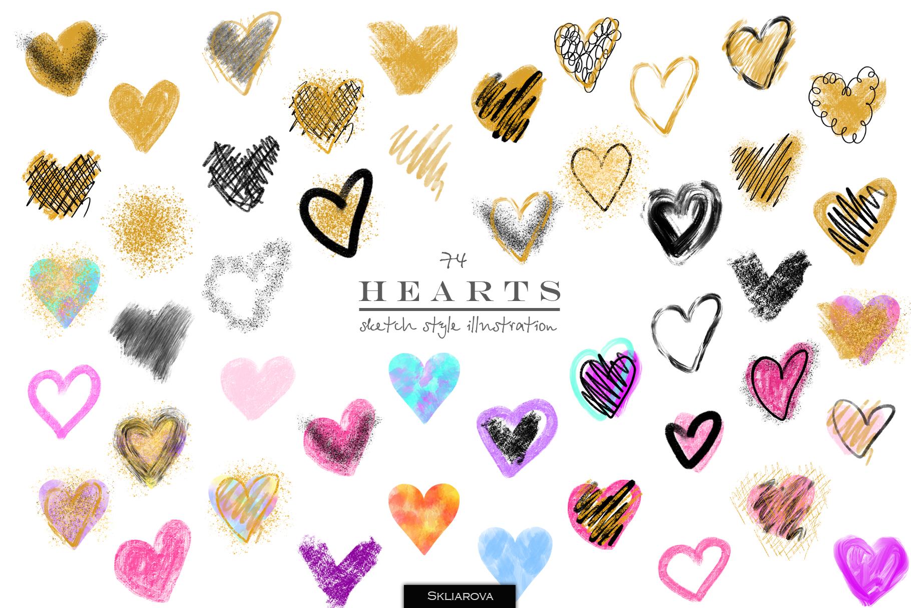 Stylish hearts example image 1