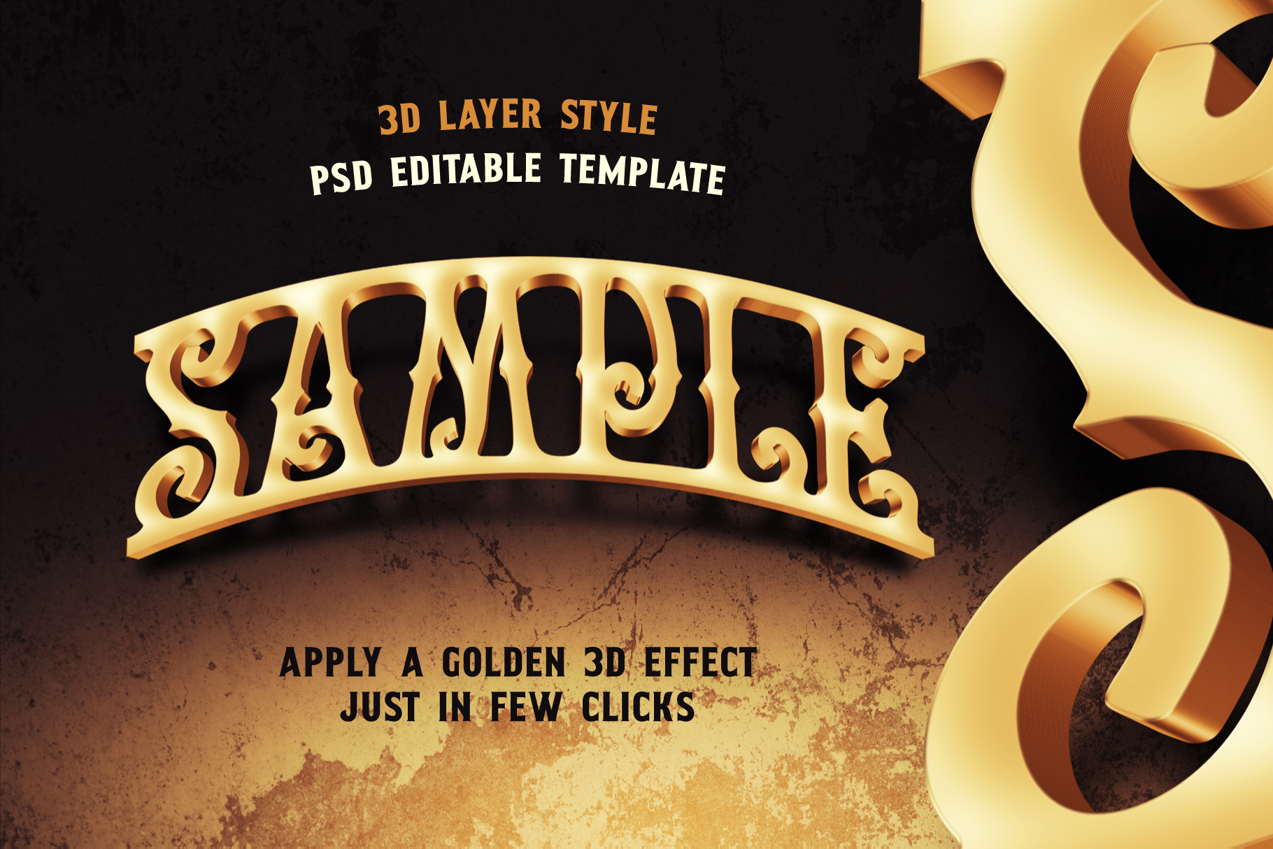 Golden Treasure font & template example image 3