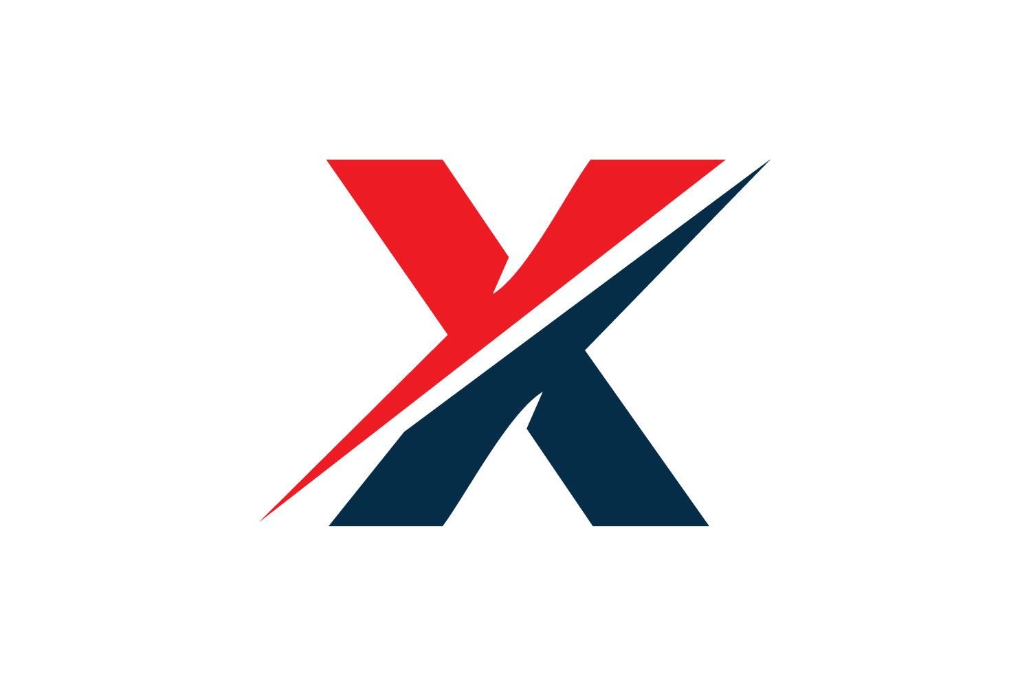 Letter X logo design. example image 2